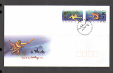 Christmas Island 2004 YO Monkey/Greetings 2v FDC n15421