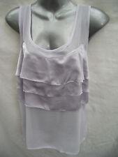 BNWT Womens Sz 12 Undercoverwear Pretty Lilac Cap Sleeveless Ruffle Top RRP $60