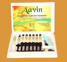 Aavin Light Cured Universal Nano Hybrid Composite Kit Of 7 Syringes USA Made