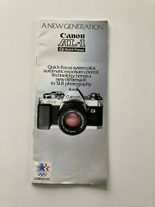 Original Canon AL-1 QF 35mm camera - 1984 Olympic Instruction Booklet / Manual