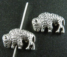 80pcs Tibetan Silver Lovely Bison Spacers Beads 16x10mm 9250