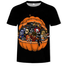 Horror Friends I.T Friday 13th Chucky Freddy Krueger T Shirt! 3D Double sided!