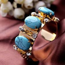 Bracelet Turquoise Bleu Ambré Retro Ancien Vintage Mariage CT5