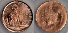ERROR UNIFACE 1964 Nevada Lincoln Heraldic Art Medal 2017 Copper Restrike MS68