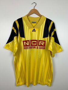 Mens Vintage 90s Adidas Football Shirt Soccer Jersey #14 Size XL