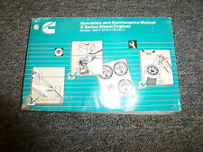 Cummins 6C8.3 6CT8.3 & 6CTA8.3 Diesel Engine Owner Operator Maintenance Manual