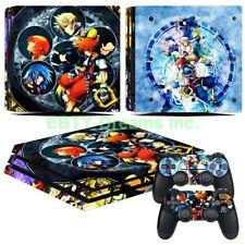 Kingdom Hearts Video Game Sora Kairi Vinyl Skin Sticker Decal Protector PS4 Pro