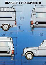Renault 4 Transporter Prospekt 1985 Autoprospekt Broschüre brochure broschyr Pkw
