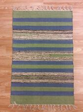 Striped Multi Colour Handwoven Dhurrie 100%Cotton RUG 60x90cm 2'x3' 50%OFF
