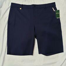 NWT Lauren Ralph Lauren Navy Blue women's shorts 16