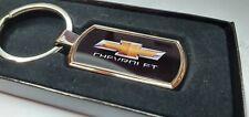 Chevrolet keyring Logo Free Gift Box Key Ring Keychain chrome metal