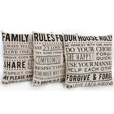 40CM PILLOW BED SOFA HOME DECOR CAR WAIST BACK CUSHION COVER GIFT QUOTE DECOR
