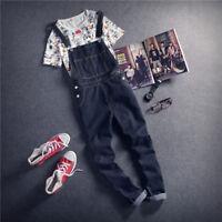 Classic Men Casual Denim Suspenders Pants Dungarees Bib Overalls Jumpsuits Jeans