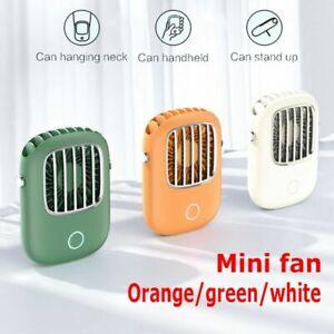 Tragbarer Ventilator Mini Fan Lüfter Nackenventilator USB Wiederaufladbarer