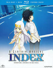 A Certain Magical Index: Season One (Blu-ray/DVD, 2014, 7-Disc Set) NEW