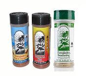 3 Everglades Seasoning Sampler Fish Chicken Hot Spicy Heat All Purpose 8oz 6oz