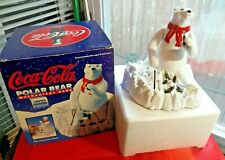 Christmas Coke Coca Cola Polar Bear Metal Bear Mechanical Ertl Bank 1995