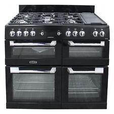 Leisure CS110F722K 110 cm Dual Fuel Range Cooker Black Gas Hob #2075