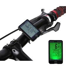 Contachilometri Bici Via Cavo Tachimetro Grande Display Touch Retro Illumin