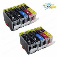 10 PK Ink For Canon PGI-5 Cli-8 W/ Chip Pixma iP4200 iP4300 iP4500 MP600 MP800