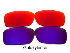 Galaxy Replacement Lenses For Oakley Crankcase Red&Purple Polarized 2 Pairs