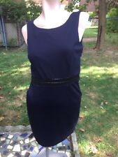 NEW A/X Armani Exchange Midnight Color Sleeveless sz.M w/embroidered waist Dress