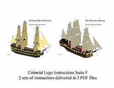 Lego Pirate Imperial Armada Inst. Suite F ManOWar, Privateer