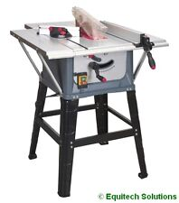 """Sealey Tools TS10P 254mm 10"""" Wood Table Saw c/w Stand & Extension 1500W 230V New"""