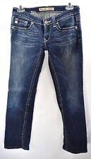 Big Star Sweet Boot Ultra Low Rise Women's Jeans Dark Wash Faded Sz 26 X L EUC