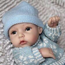 "Reborn Mini Boy Realistic 10"" Lifelike Baby Dolls Vinyl Full Body Vinyl Silicone"
