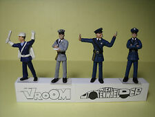 4  FIGURINES 1/43  SET 273  POLICE  AGENTS DE LA CIRCULATION  VROOM  UNPAINTED