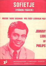 JOHNNY LION - SOFIETJE (SHEET MUSIC HOLLAND 1965)
