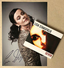 LISA STANSFIELD * SEVEN * UK DELUXE 14 TRK CD w/ SIGNED PRINT * BN&M! * CARRY ON