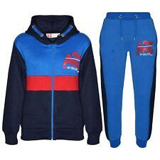 Niño Chándal Azul Marino de Diseñado con Cremallera Top Pantalones Edad 5-13 Año
