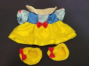 Build A Bear Disney SNOW WHITE Seven Dwarfs Dress Yellow Shoes Slippers Princess