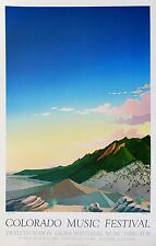 """Doug West, """"Boulder Nightfall"""", event poster, 29.875""""h x 22""""w, signed/unsigned"""