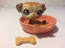 littlest pet shop 3p Bulldog Bed Bone Lps #21 Classic Set