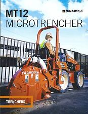 Equipment Brochure - Ditch Witch - MT12 - Micro Trencher - 2013 (E3630)