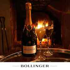 BOLLINGER CHAMPAGNE CRYSTAL FLUTES  X 2   STOLZLE  BRAND NEW UNBOXED NO FIZZ INC