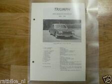 TR1-TRIUMPH 2000, SEDAN EN STATIONCAR 1964-1966--INFO