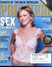 Premiere Magazine July 8 2003 Naomi Watts EX w/ML 122816jhe