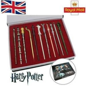 11PCS/Set Harry Potter Hermione Dumbledore Sirius Voldemort Fleur Magic Wand UK.
