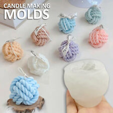 3D Nordic Yarn Ball Candle Mould Silicone Soap Plaster Wax Making Mold Diy Craft