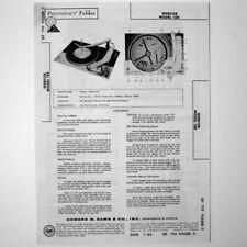 """Webcor Model 188 - Sams Photofact â""""¢ 1964 - New Nos"""