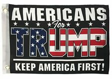 Americans For Trump Boat / Motorcycle Flag Double Sided - New!
