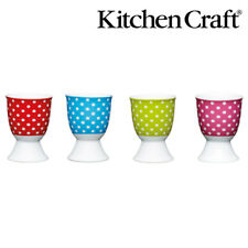 KitchenCraft Brights Polka Dot Porcelain Egg Cup 4pcs 4 colors 41016171819 PI