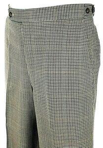 DAKS Mens Formal Brown DRESS TROUSERS 100% WOOL - 31x28 - W31 L28 - Immaculate