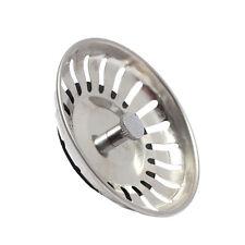Stainless Steel Home Kitchen Sink Drain Stopper Basket Strainer Waste Plug YC