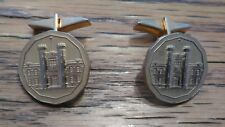 Vintage Gold Tone Royal Canadian Mint Men's Cufflinks Jewelry Accessory