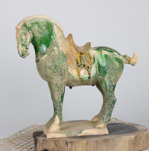 China Old collection Tang Dynasty Tang tri-color glazed ceramics War horse